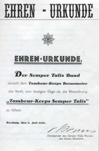 Urkunde zum Namen Sempertalis